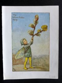Cicely Mary Barker 1940s Flower-Fairy Print. Willow-Catkin Fairy